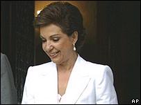 Marta Sahagún, primera dama de México.