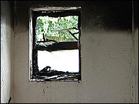 Burnt window