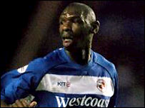 Reading striker Shaun Goater