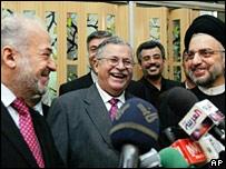 Ibrahim Jaafari, Jalal Talabani and Abd al-Aziz al-Hakim