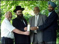 Different faith representatives in Queen's Park, Glasgow