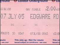 'Graham' purchased this ticket at Edgware road at 0843 just before the blast