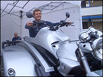 Photo of Carl Brunning on the Conquest powered trike