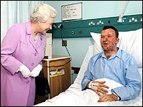 The Queen meets survivor Bruce Lait