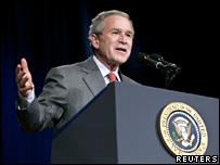President Bush speaking in Nashville, Tennessee