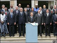 Los líderes del G8 reunidos en Gleneagles, Escocia