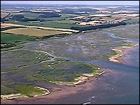 Salthouse Marshes in North Norfolk