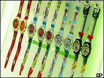 Swatch watch display