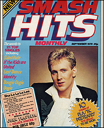 First ever Smash Hits cover
