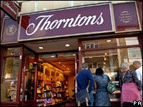 Thorntons shop