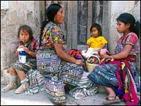 Mayan family in Guatemala