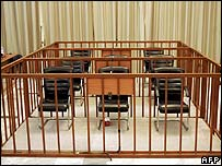 Empty chairs in the dock