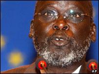 Former southern rebel leader John Garang