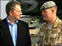 Tony Blair and Cpl Pritchard