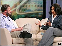 James Frey and Oprah Winfrey