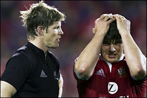 Donncha O'Callaghan (right) and Simon Easterby