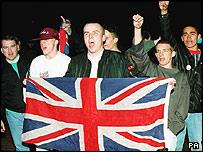 Celebrations in Millwall, east London