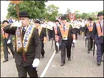 Orangemen on the march in Donegal