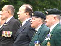 Veterans attended the service in Bangor, County Down