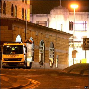 Royal Logistics Corps Bomb Disposal vehicle near Broad Street, Birmingham