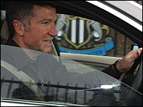 Graeme Souness leaves the Long Benton training ground in Newcastle