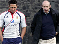 Gavin Henson (left) and Sir Clive Woodward
