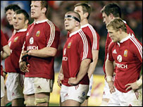 Lions players try to come to terms with a 3-0 series defeat