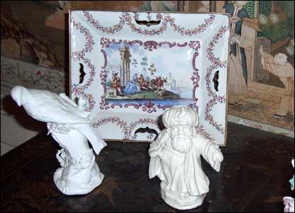 A small part of the porcelain collection that was stolen