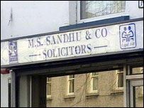 Mr Sandhu's office in Limavady