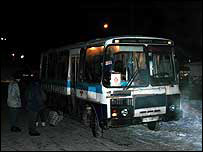 Night Bus of Mercy parked near Kursk Station, Moscow