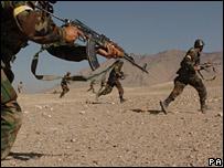 Afghan army soldiers