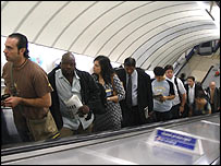 Commuters on Tube