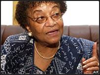 Liberia's new President Ellen Johnson-Sirleaf