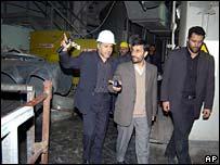 President Mahmoud Ahmadinejad visits Bushehr nuclear power station