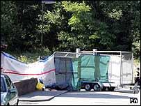 The area where Lauren Pilkington-Smith's body was found