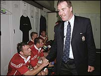 Donal Lenihan after the Lions' first Test win in 2001
