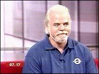 Jeff Porter in the BBC Breakfast TV studio