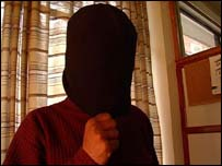 Immigrant shows how he was hooded by his captors