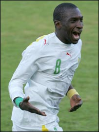 Senegal striker Mamadou Niang