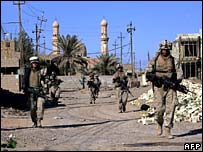 US soldiers in the Iraqi city of Fallujah