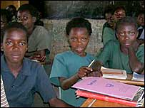Children attending Kapopo Primary School in the Naluyanda district, north of Lusaka, Zambia