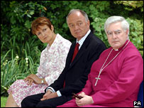 Tessa Jowell, Ken Livingstone and Bishop Stephen Oliver of Stepney