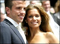 Rafael van der Vaart and his wife Sylvie