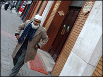 Man leaves mosque