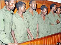Somali men charged with piracy in court in Mombasa, Kenya