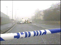 Antrim Road where alert took place