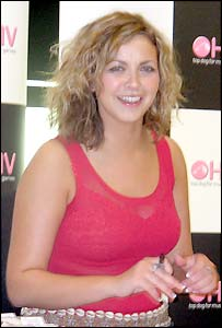 Charlotte Church at the HMV store in Cardiff's Queen Street