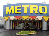 A Metro cash & carry store in India