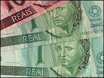Brazil's national currency - the Real. File photo