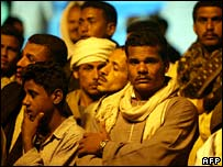 Relatives wait for news at Egypt's Safaga port